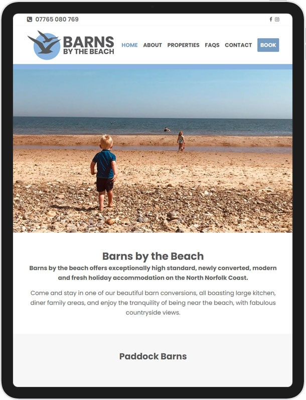 New Wordpress Website for Barns by the Beach