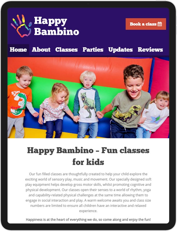 Website for Happy Bambino