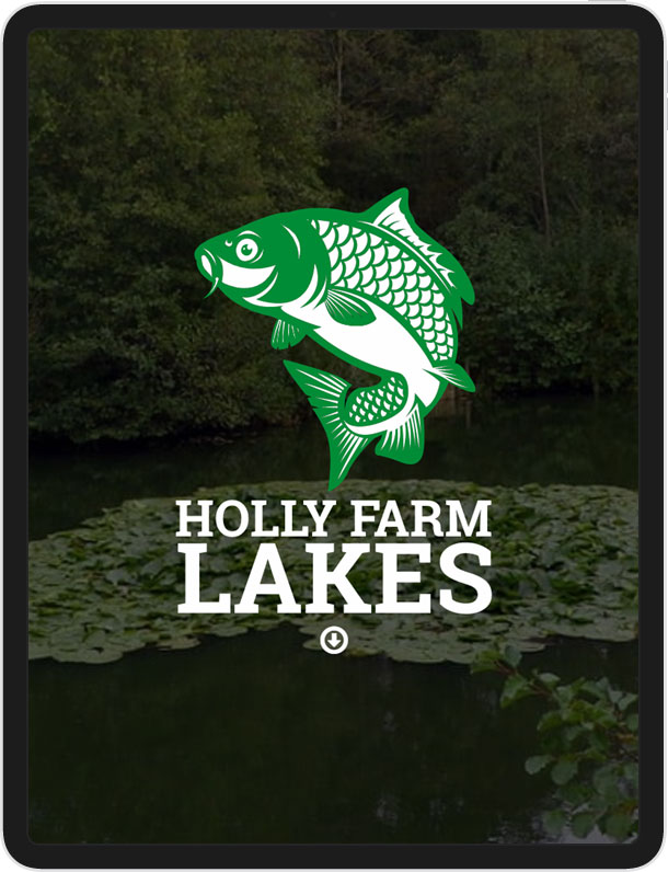 One Page Wordpress Website for Holly Farm Lakes
