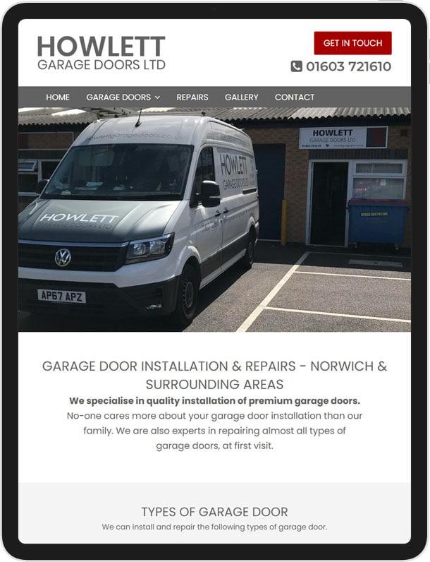 Website Redesign For Howlett Garage Doors