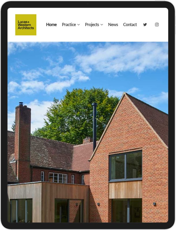 Wordpress Website For Lucas+Western Architects