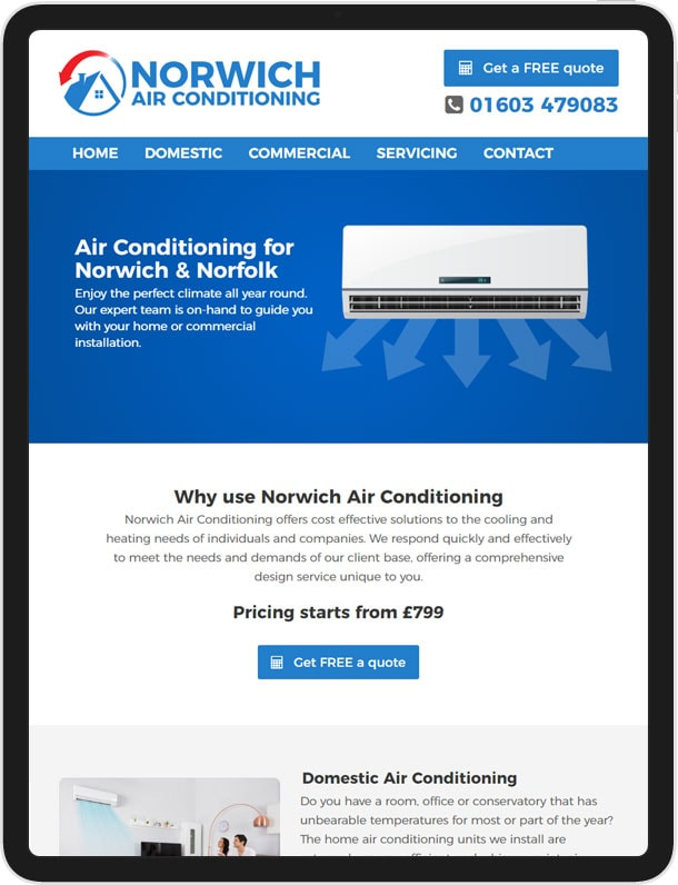 Website For Norwich Air Conditioning