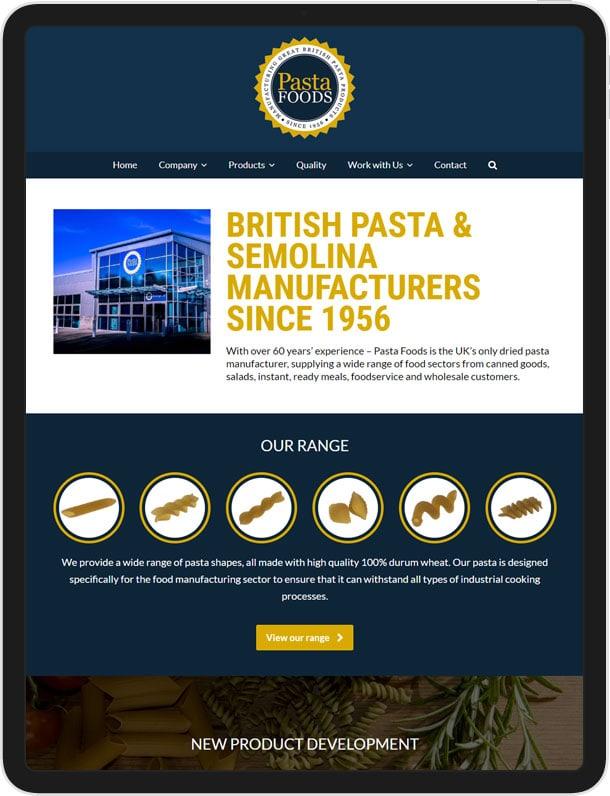 Wordpress Website for Pasta Foods Ltd