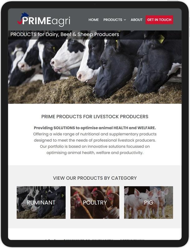 Website Design for PRIMEagri