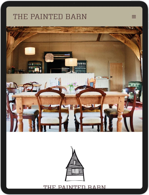 Wordpress Website for The Painted Barn