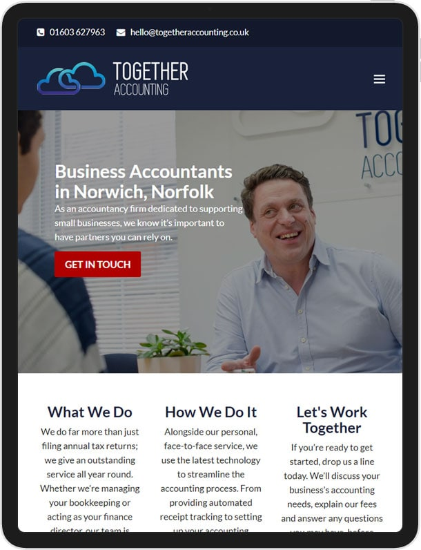Website for Together Accounting