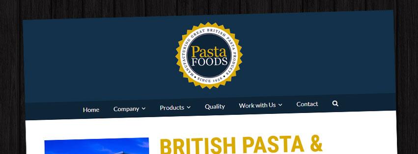 Wordpress Website For Pasta Foods