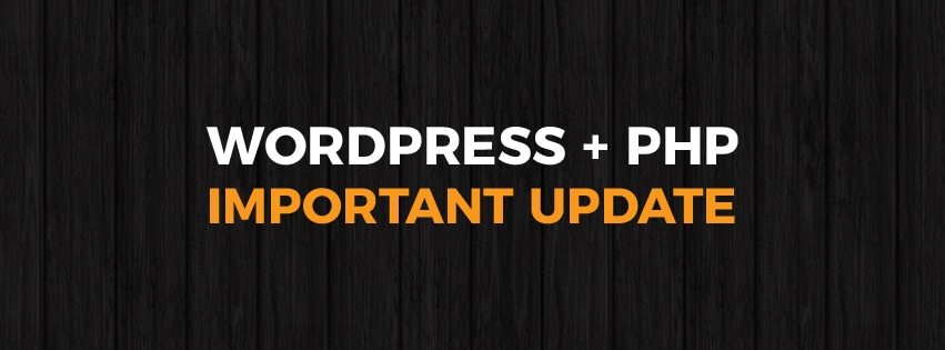 WordPress and PHP important update
